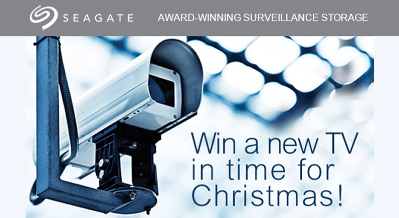 TV giveaway with Seagate Surveillance HDD