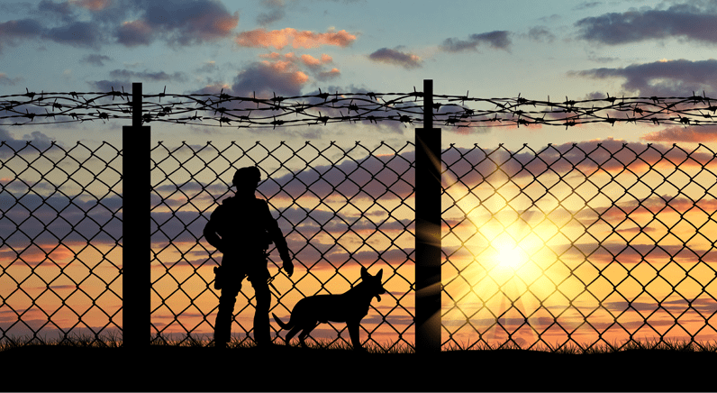 Building security for border control