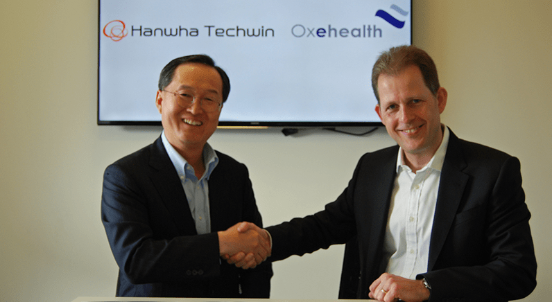 Hanwha Techwin and Oxehealth agree global technology partnership