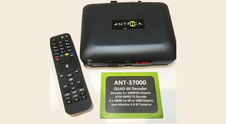 New Quad Stream 4K UHD Video over IP Decoder launched by Antrica