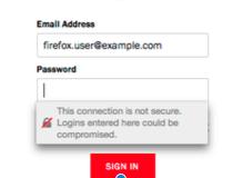 Firefox HTTPS warning