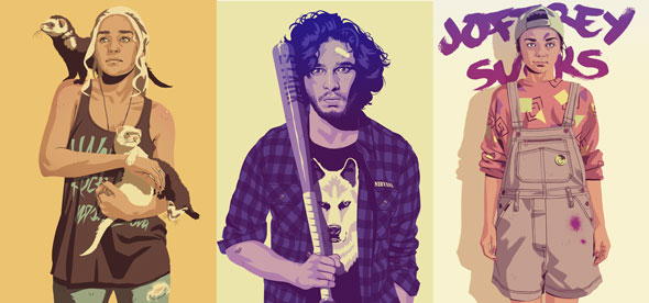 game of thrones  Personagens de Game of Thrones como esterótipos dos anos 80~90