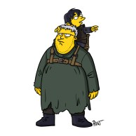 Personagens de Game Of Thrones simpsonizados