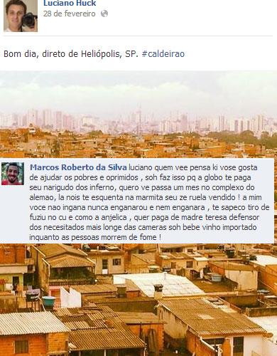 18 comentários que você só vê na página do Luciano Huck