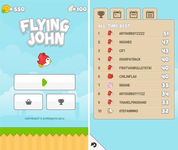 itunes games Flying John Flappy bird Android  Tá com saudades do Flappy bird, então experimente jogar Flying John
