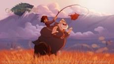 série GOT game of thrones Fernando Mendonca  E se os personagens de Game of Thrones fossem desenhados pela Disney