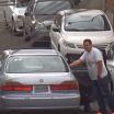 Equipe de segurança impede roubo de pneus em estacionamento... Mas o estrago foi grande