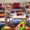 Este bebê testa de forma hilária a paciência de sua mãe