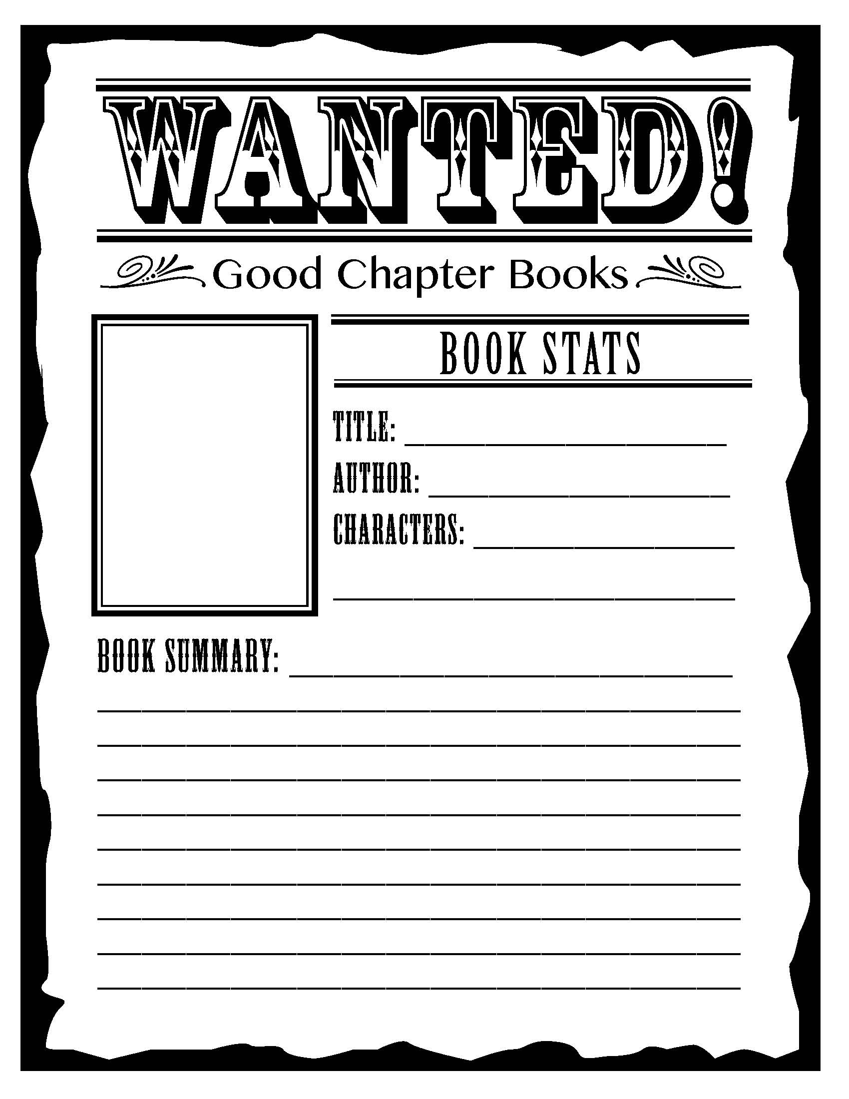 Sample Wanted Poster Template For Book Report – Examples of Wanted Posters