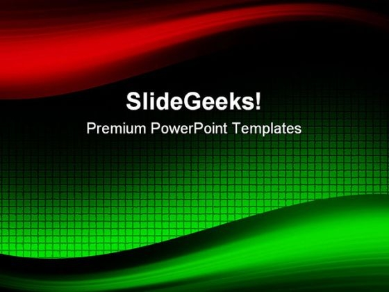 Waves Abstract PowerPoint Template 1110 - PowerPoint Themes