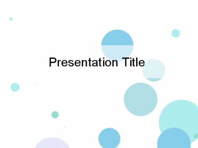 Blue Bubbles On A White Background Circles PowerPoint Background HQ