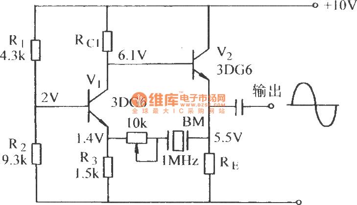 quartz oscillator circuit schematic