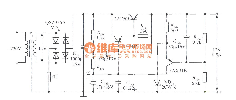 12v voltage stabilizer circuit diagram