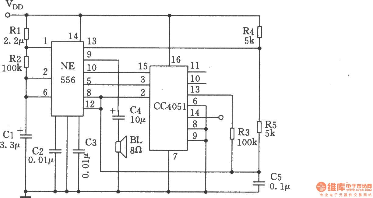 multi sound generator circuit