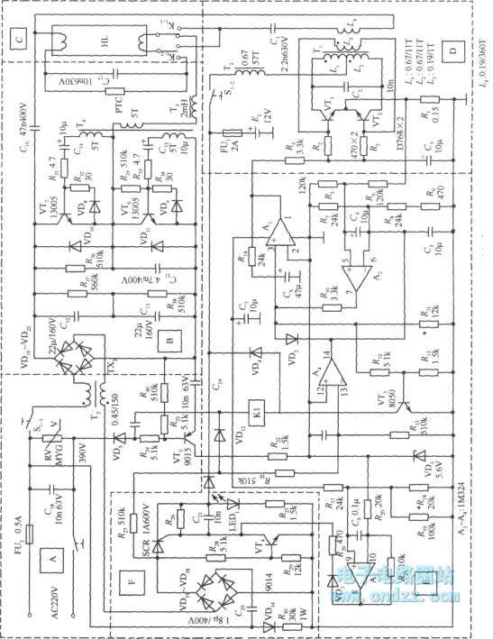 emergency fluorescent light circuit diagram