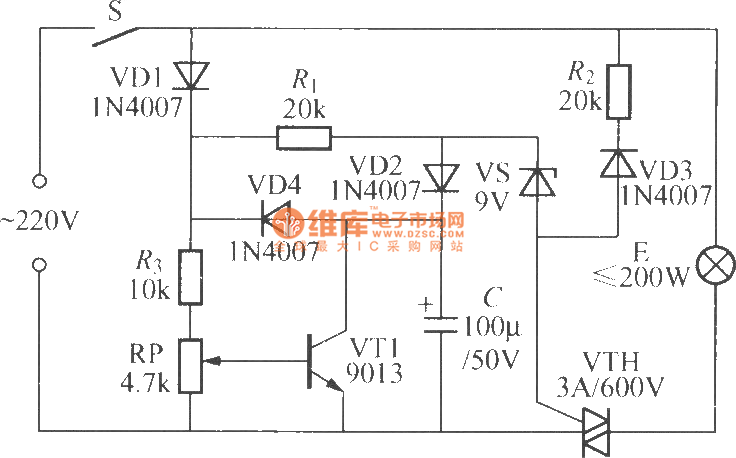 remote control mains switch circuit diagram