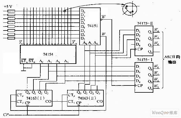 scanning keyboard encoder circuit diagram tradeoficcom