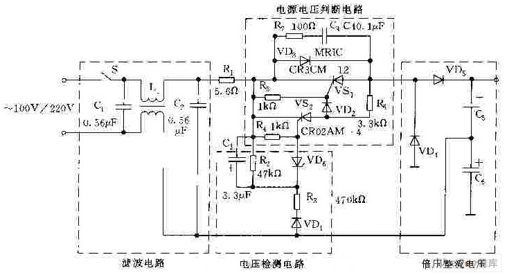 110v 220v ac voltage automatic switchover circuit basiccircuit