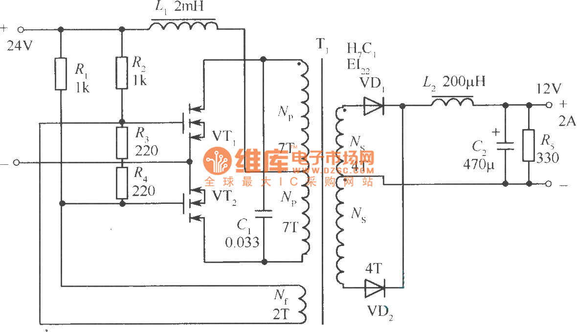 dc converter diagram