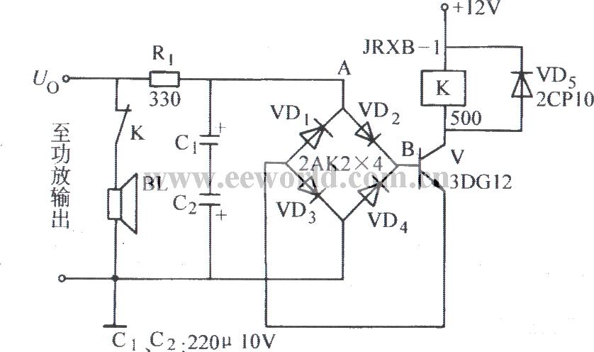 bridge and pick-up type speaker protection circuit - Relay_Control