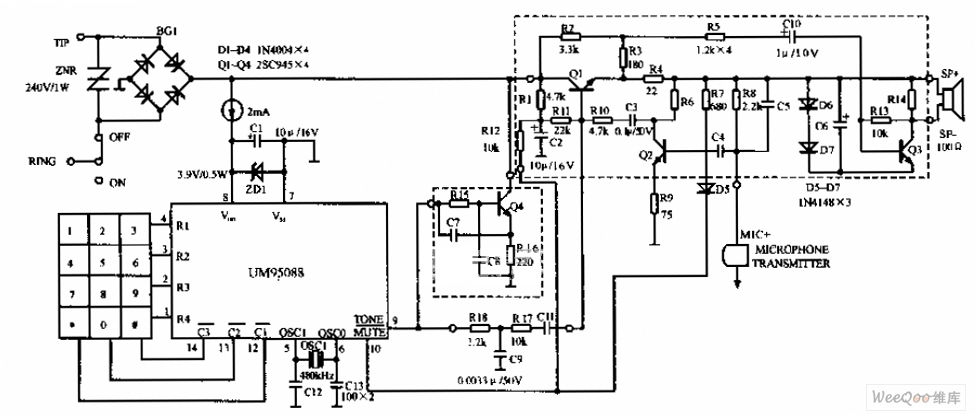 telephone schematic telephonerelatedcircuit electricalequipment