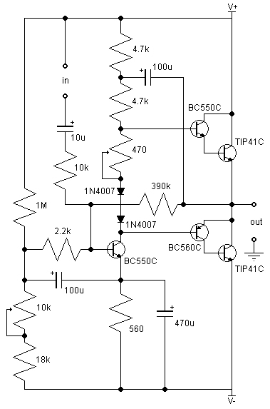 21w class ab amplifier