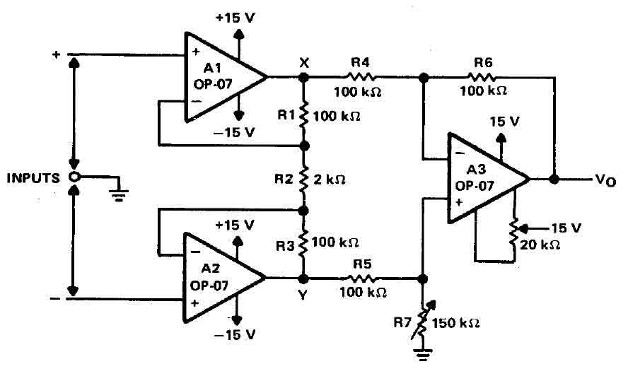 simple unity gain noninverting amplifier circuit diagram