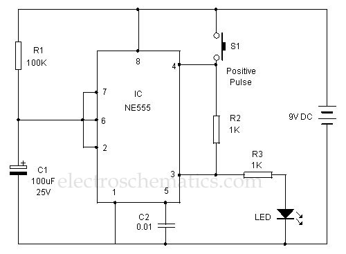 positive trigger timer circuit