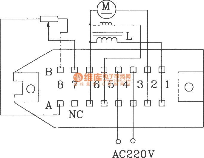 component kcz1 electrical schematic diagram and external wiring