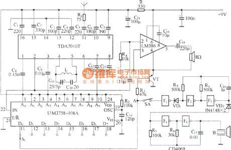 Wireless Transmitter - Communication Circuit - Circuit Diagram