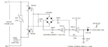 charge coupled mosfet relay circuit