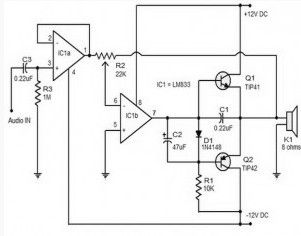 audio amplifier circuit 15 watts