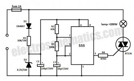 led dimming wiring diagram capacitor