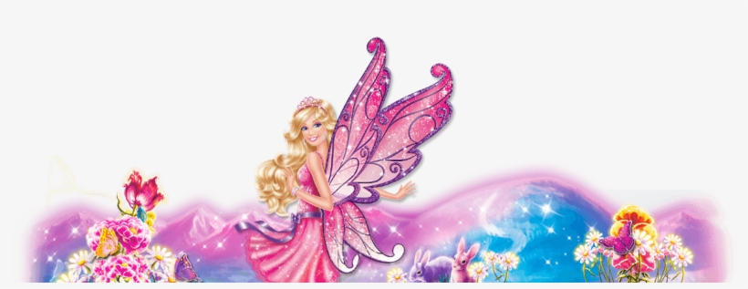 Explore Header Fairy Background - Barbie Invitation Template Blank