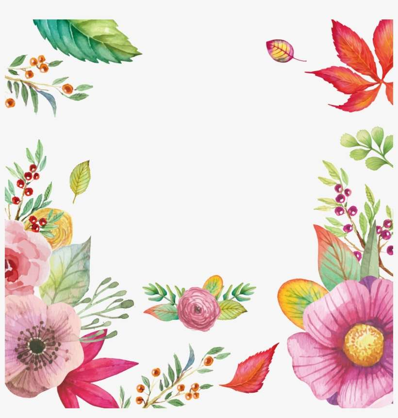 Graphic Royalty Free Download Flower Clip Art Flowers - Watercolor