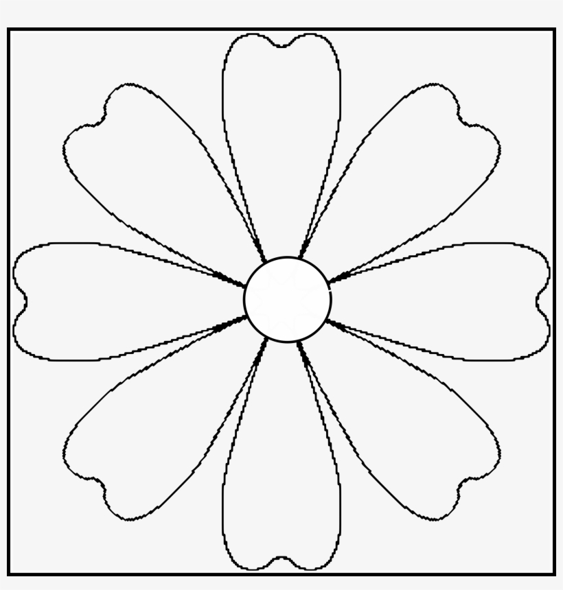 Fascinating Flower Petal Template - Flower With 7 Petals Clipart PNG
