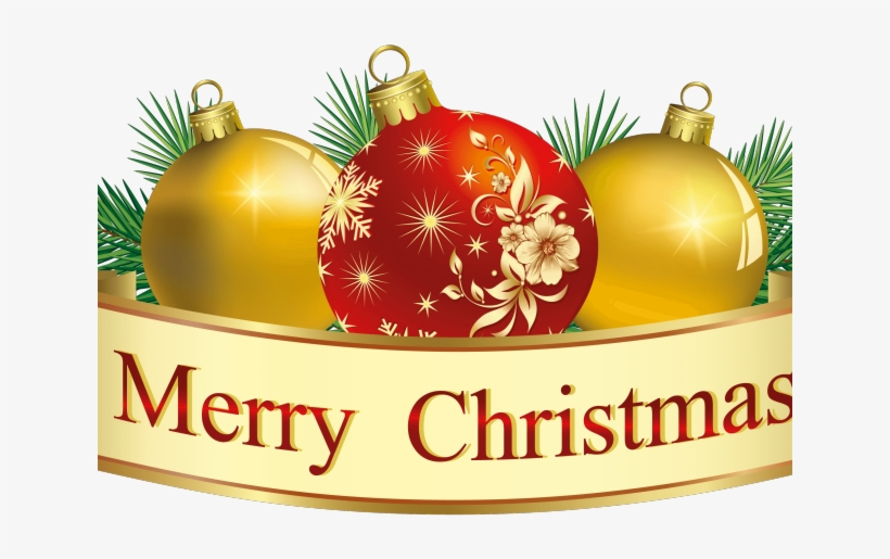 Merry Christmas Banner Clipart - Transparent Background Christmas