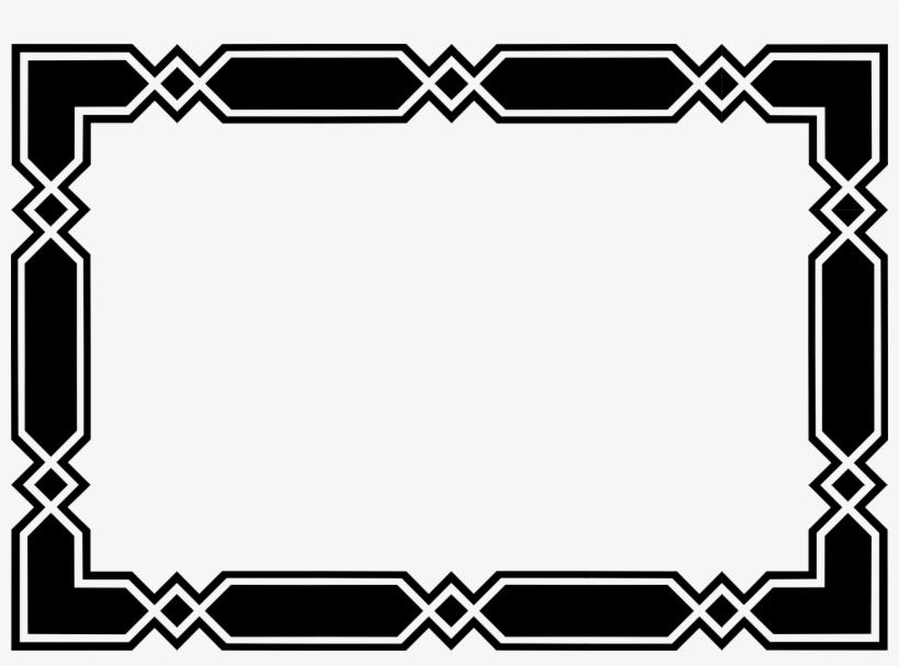 Black Border Frame Transparent Background - Border Design Black And