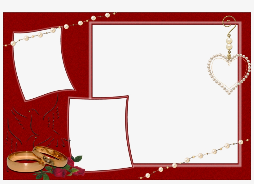 Boda - Red Wedding Frames And Borders PNG Image Transparent PNG