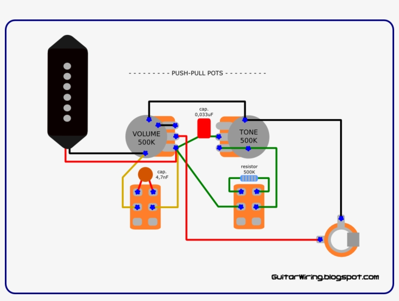 The Guitar Wiring Blog - Gibson Les Paul Junior Wiring Diagram PNG