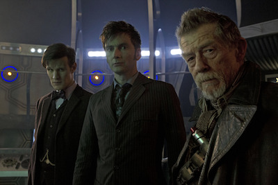 The BBC offered a digital download copy of the Doctor Who anniversary special with each DVD and Blu-ray copy. Image: BBC/Adrian Rogers