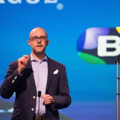 John Petter speaking at the launch of BT Sport Europe. Image: BT