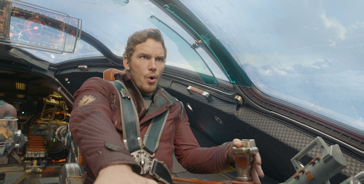 Chris Pratt as Peter Quill / Star-Lord in Marvel's Guardians of the Galaxy Image: © Marvel 2014