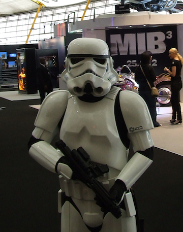 Stormtroopers patrolling London's O2. Photo: SEENIT