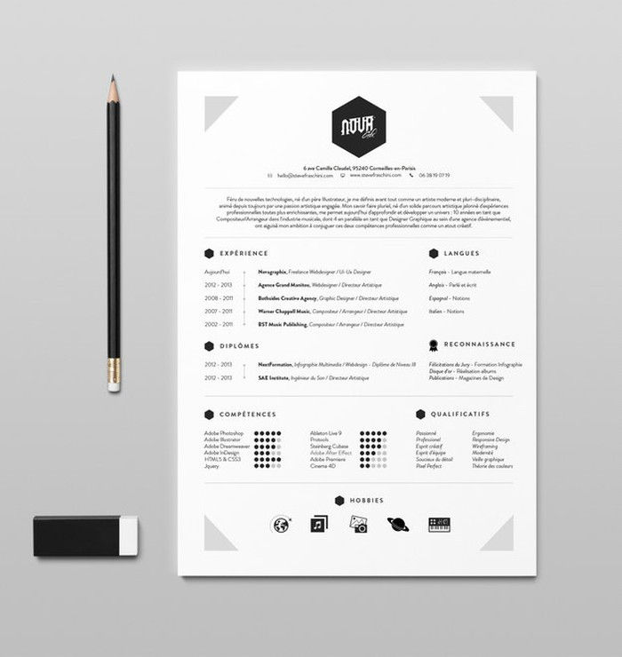 cv pinterest design graphiste