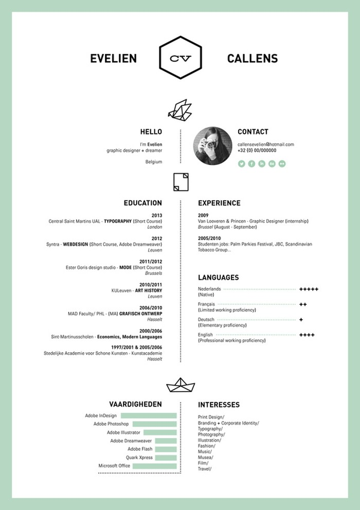 graphic designer cv example pdf