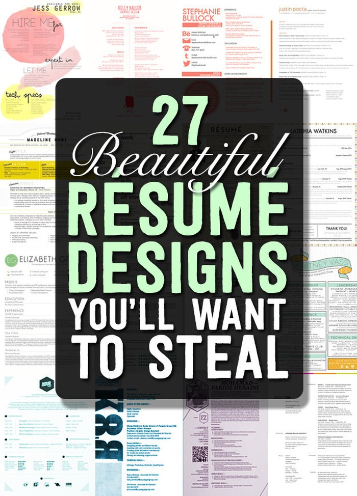 27 Magnificent CV Designs That Will Outshine All The Others! - Seenox