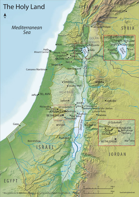the holy land The holy land refers to the area located between the mediterranean sea and the jordan river, especially the area surrounding jerusalem the term refers to the fact.
