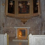 Chapel of the Derision, with part of column under altar (Seetheholyland.net)