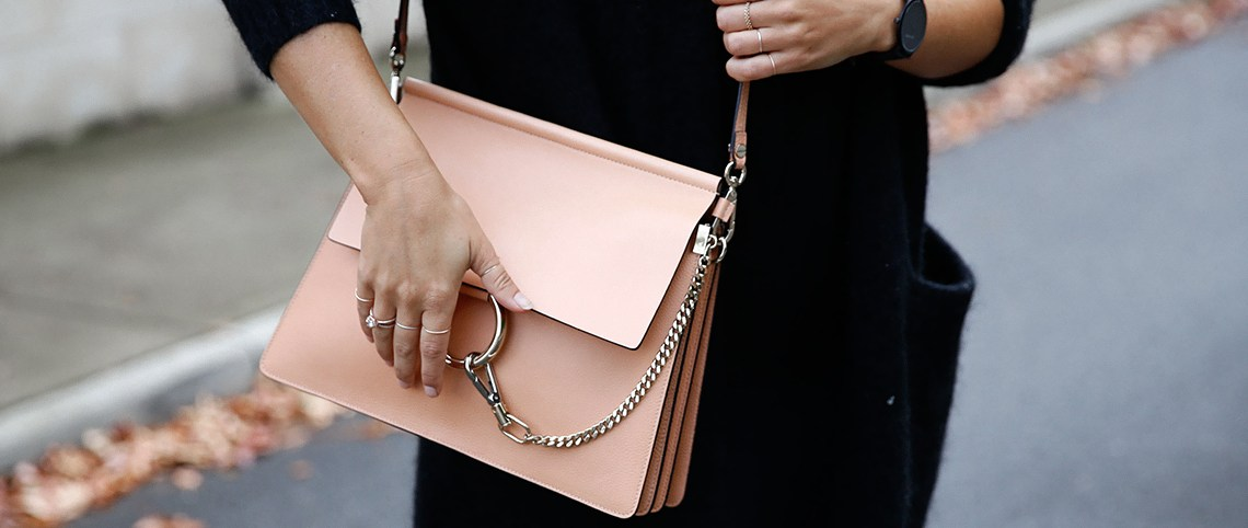 Style blogger Lisa Hamilton  from See Want Shop wearing Chloe Faye bag